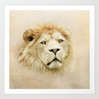 lion Art Prints featuring Lion by Peaky40