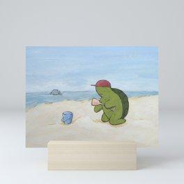 at the beach horiz Mini Art Print