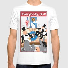 Everybody, Out! Mens Fitted Tee White MEDIUM