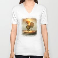 matty healy V-neck T-shirts featuring A Trip down the Sunset by Viviana Gonzalez