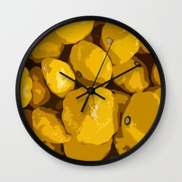 Playful Patty Pan 8 Ball Squash! Wall Clock