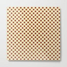 Geometric abstract marsala red yellow modern pattern Metal Print