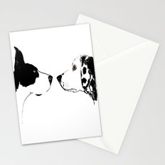 Great Dane Dog with Dalmatian Dog Stationery Cards