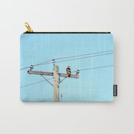 Red Tailed Hawk on Pole Carry-All Pouch