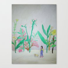 i'm lost in your garden with my sheep. Canvas Print