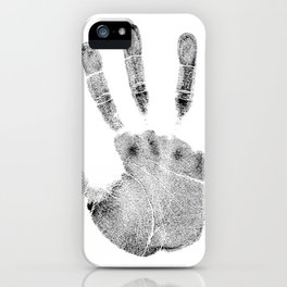 Hand palm dlan fingerprint iPhone Case