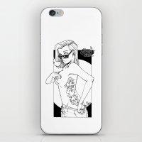 tatoo iPhone & iPod Skins featuring tatoo tanga & cigarette by kingsimon