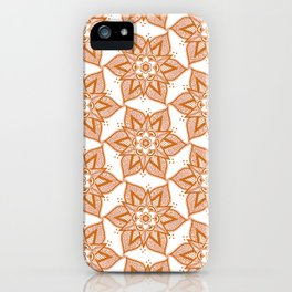 Henna Flower Pattern iPhone Case