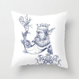 Sea Posse IV - King, Navy Print Throw Pillow