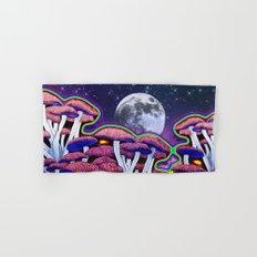 Moon Mushrooms Hand & Bath Towel