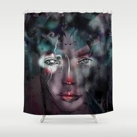 fairy Shower Curtains featuring fairy by Irmak Akcadogan
