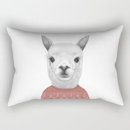 Lama in a sweater Rectangular Pillow