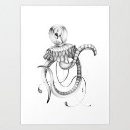 Octopus - Graphite Drawing Art Print