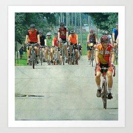 Bicyles Arrive in Fairfield, Iowa Art Print