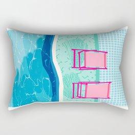 Vay-K - abstract memphis throwback poolside swim team palm springs vacation socal pool hang Rectangular Pillow