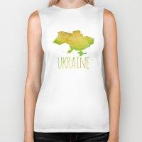 ukraine Biker Tanks featuring Ukraine by Stephanie Wittenburg