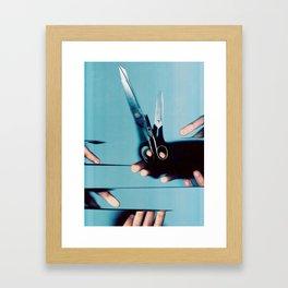 Cutting Everything Framed Art Print