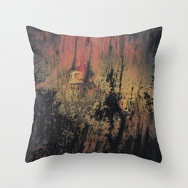 when nobody it's here Throw Pillow