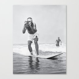 The Surfing Photographer Canvas Print