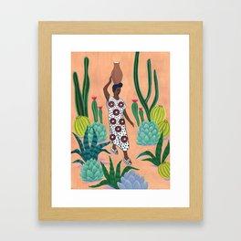 Girl with a jug Framed Art Print