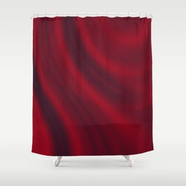 Digital Satin Ruby Red Abstract Shower Curtain