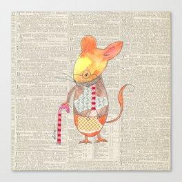Ole Grandpa Mouse Canvas Print
