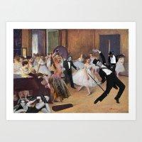 degas Art Prints featuring Degas Steps it Up by Hayley Q. Drewyor