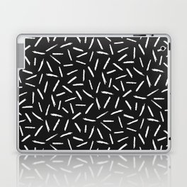 Black & White Scribble Confetti Pattern Laptop & iPad Skin