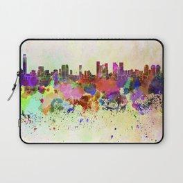 Tel Aviv skyline in watercolor background Laptop Sleeve