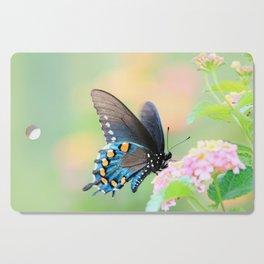 Spicebush Swallowtail Butterfly on Lantana Cutting Board