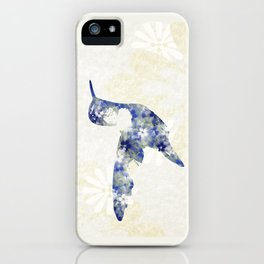 Blue Hummingbird Art iPhone Case