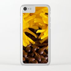 Coffee and flowers Clear iPhone Case