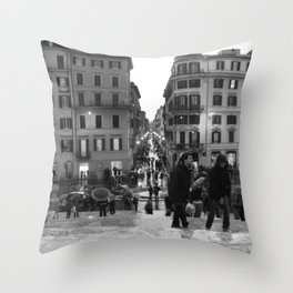A Nice Day to be a Tourist Throw Pillow