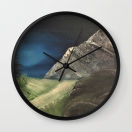 Path to the Mountains Wall Clock