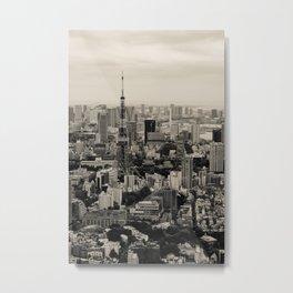 Sepia Tokyo Metal Print
