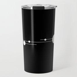 Binary System White and Black Travel Mug