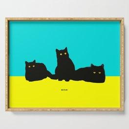Three Cats Serving Tray
