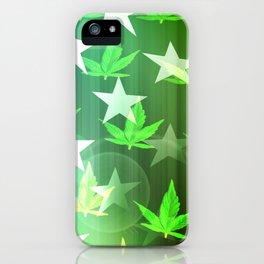 Patriotic Stars and Cannabis Design iPhone Case