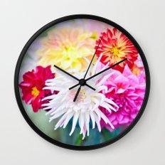 Darling Dahlias II Wall Clock