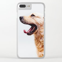 Golden Retriever Dog Yawning Clear iPhone Case