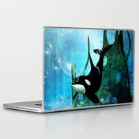 orca Laptop & iPad Skins featuring Orca by nicky2342