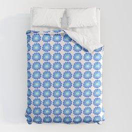 blue flower 2 -flower,bloom,blossom,nature,funny,plants,nature,visage,face Duvet Cover