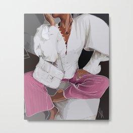 LornaLuxe Fashion Illustration | Fashion Print Metal Print