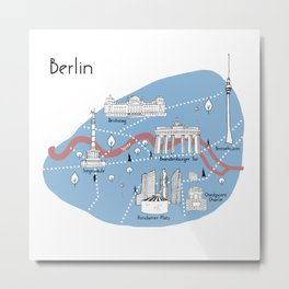 Mapping Berlin - Original Metal Print