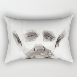 Portrait Abstraction Rectangular Pillow