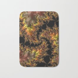 Autumn Leaves yellow brown orange Fractal Bath Mat