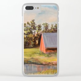 Nestled in the Farmland Clear iPhone Case