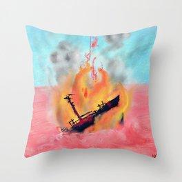 ship wreck. Throw Pillow