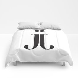"""Mirrored - The Didot """"j"""" Project Comforters"""