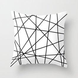 strips black Throw Pillow